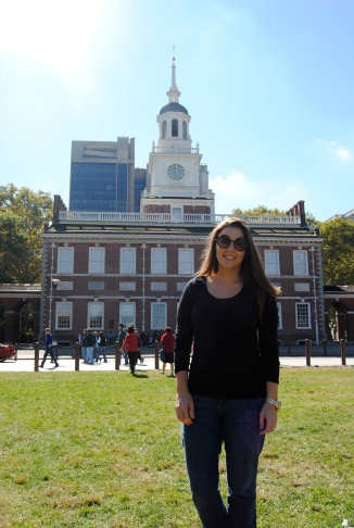 In front of Independence Hall in Philadelphia, Pennsylvania (October 2014)