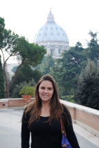 In front of St. Peter's Dome, Musei Vaticani, Vatican City (November 2014)