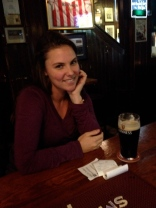 Enjoying the best Guinness ever in Dublin, Ireland (October 2014)