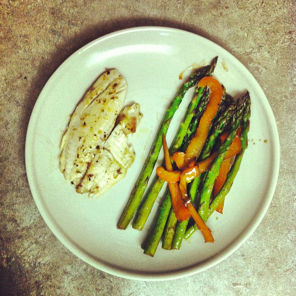 tilapia with balsamic butter asparagus