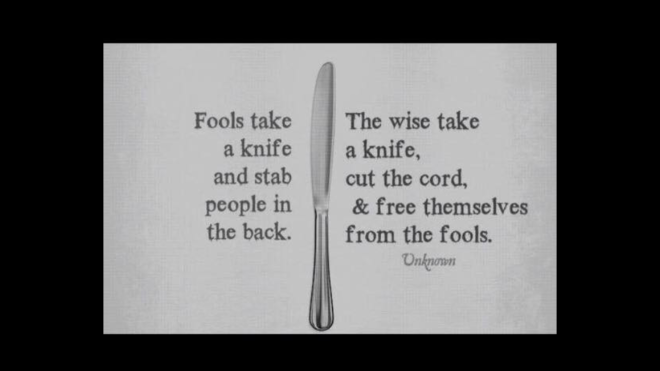 fool knife quote