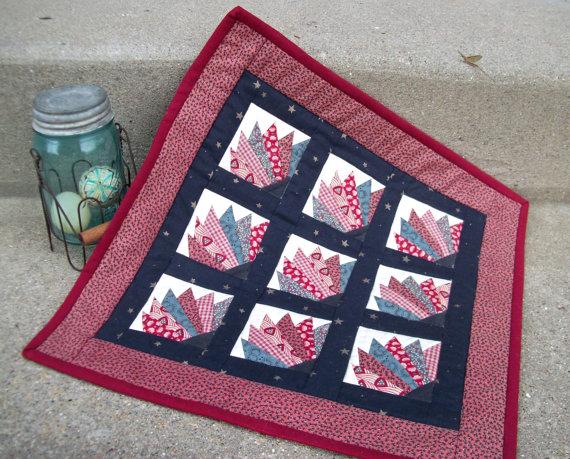 Mini fan quilt ($32)