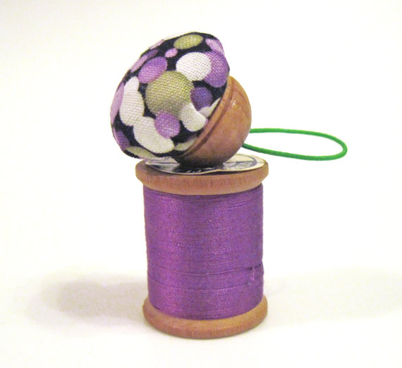 Purple and green finger pincushion ($6)
