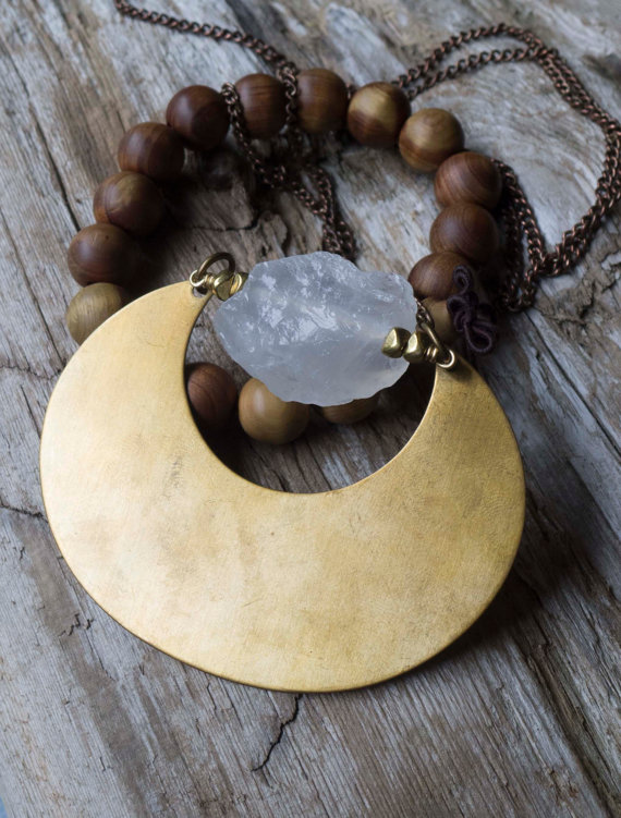 Quartz Moon necklace ($37.46)