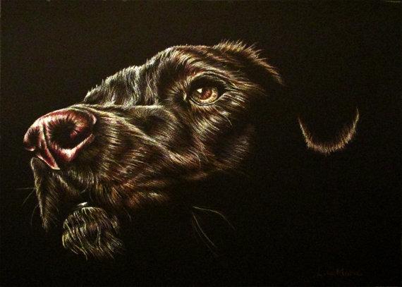 Black dog print ($10)
