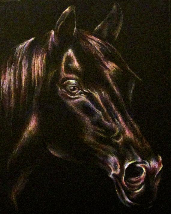 Black horse print ($18)