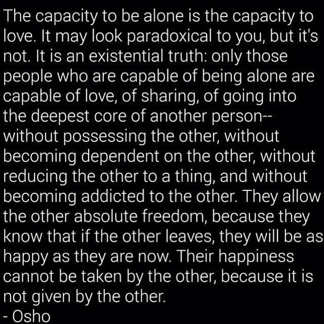 capacity to be alone