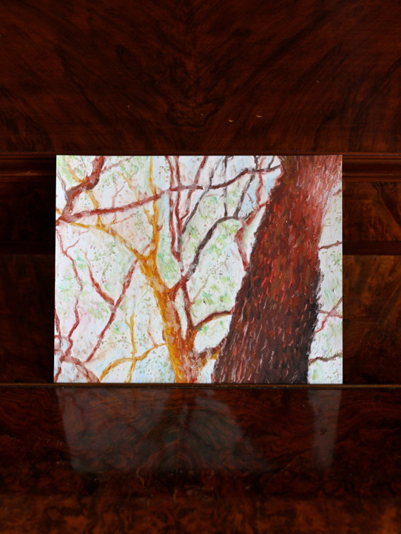 Trees, oil pastels, original ($28.75)