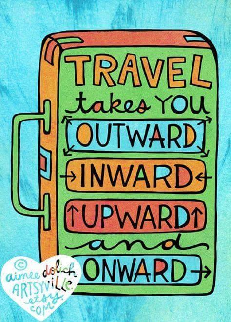 travel outward, inward, upward and onward