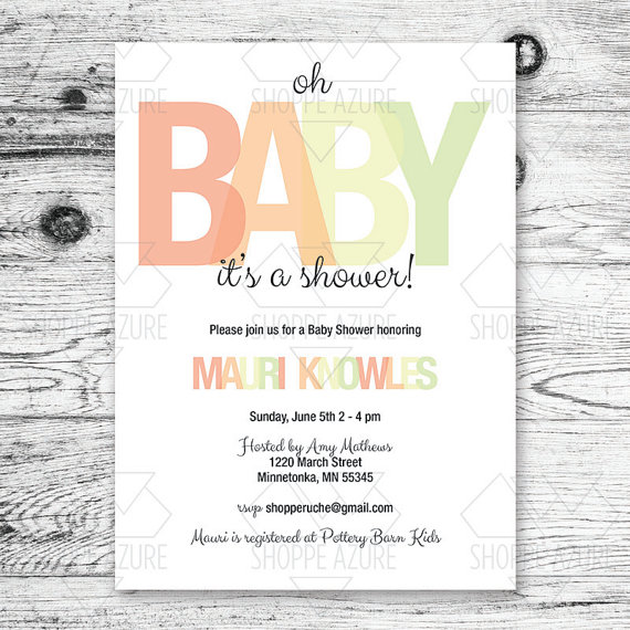 Baby Shower Invitation printable ($12.00)