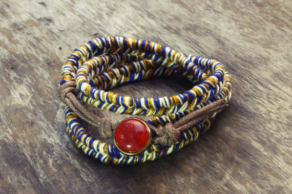 Blue and Gold Braided Bracelet ($8.89)