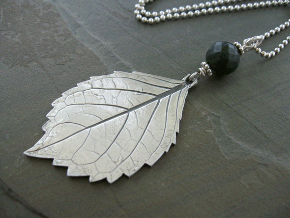 Hydrangea Leaf necklace ($135)
