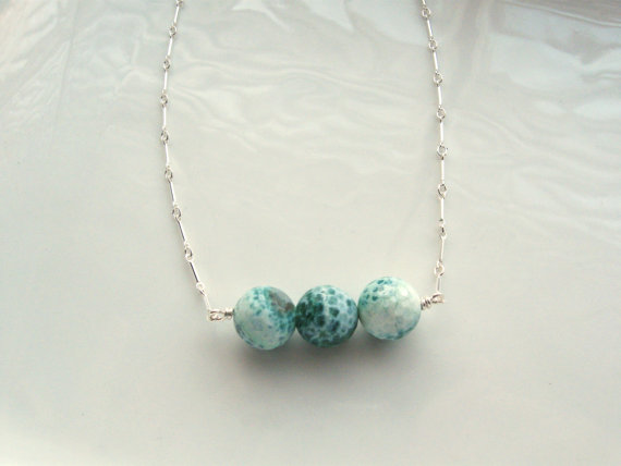 Mint Agate gemstone necklace ($40)
