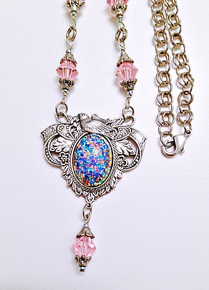 Dragon's Breath Opal Necklace ($43)