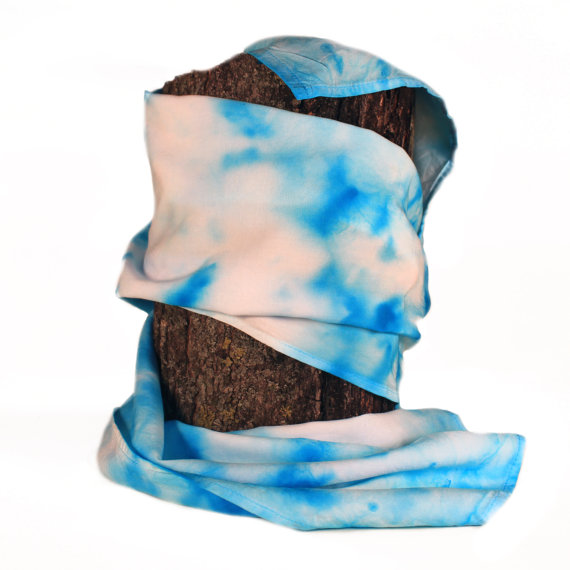 Hand-dyed Blue and White Scarf ($20.00)