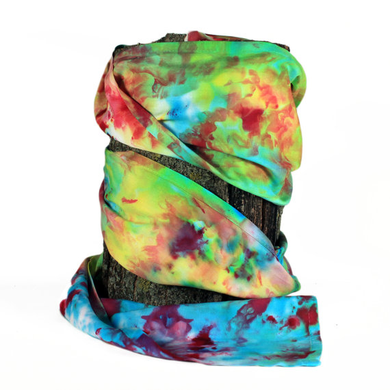 Rainbow Hand Dyed Scarf ($20.00)