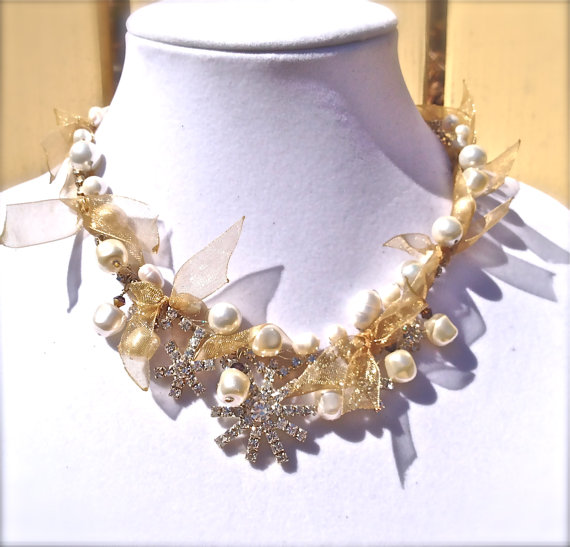 Bridal Baroque statement necklace ($60)