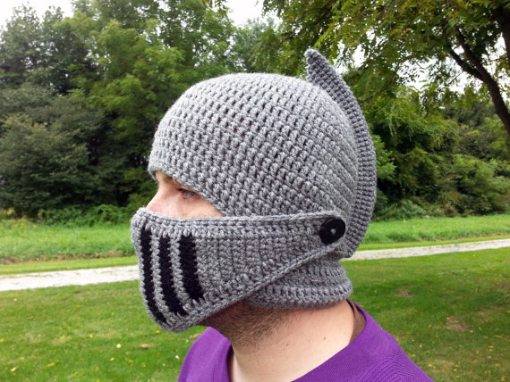 Crocheted Knight's Helment