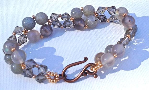 Labradorite Bead-woven Bracelet ($32)