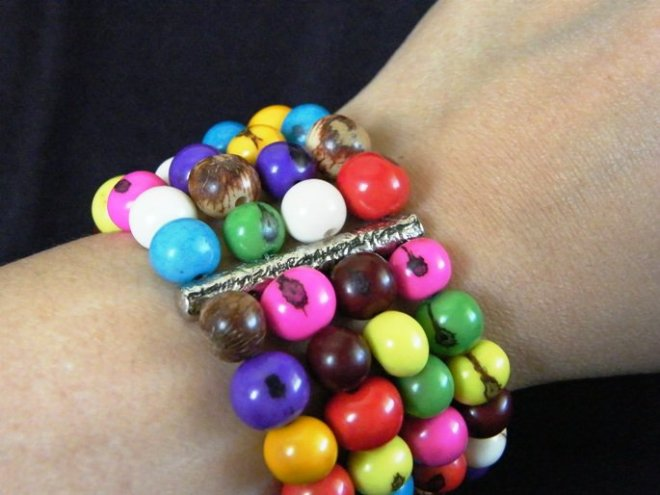 Rainbow Brazilian Seeds Bracelet ($18.37)
