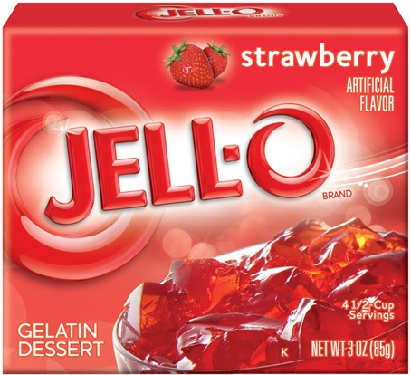 stawberry jello box