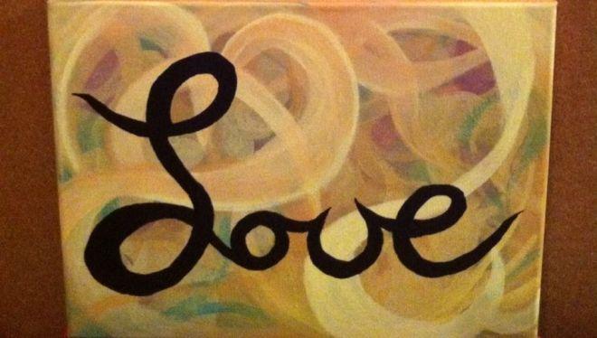 Love, 12x9 original ($25)