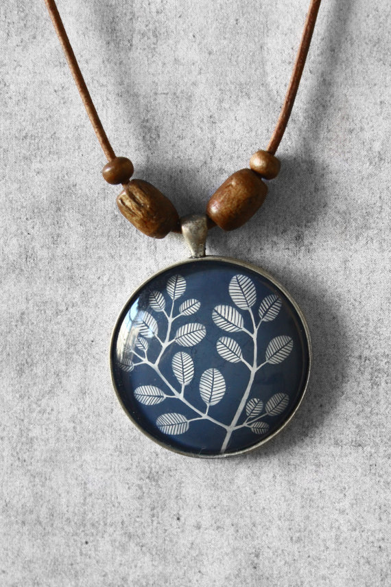 Blue Leaf Necklace ($33.50)